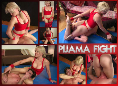 Sexy Wrestling Action with Robin: Pijama Fight