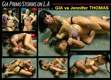GIA PRIMO STORMS ON L.A - MATCH 1 - GIA VS JENNIFER THOMAS - FULL VIDEO