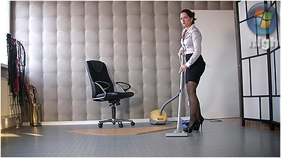 Cleaning And Vacuuming (wmv) - Lady Danica