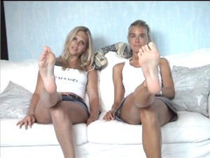 chantal and her friend show you their sexy feet, hot foot fetish movie for you