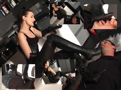 15158 - Lick my boots and trampling the slave Part 1