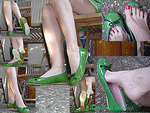 Green Ballerina Shoes
