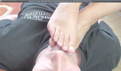 17639 - WIFE AND GIRLFRIEND - HUSBAND FOOT DOMINATION - 02