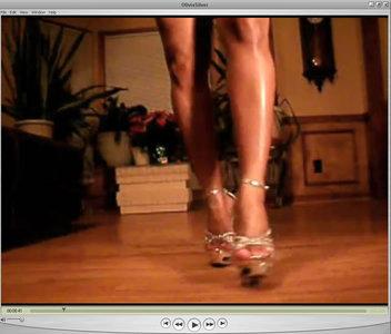 71252 - Olivia's Legs In Sexy Silver Dress