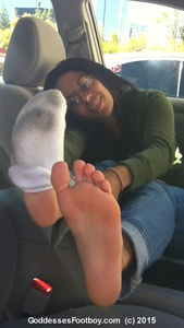 New 2015 Goddesses' Footboy: Cute Girl's Filthy Socks & Gorgeous Barefeet