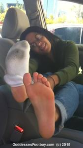 81420 - New 2015 Goddesses' Footboy: Cute Girl's Filthy Socks & Gorgeous Barefeet (Part II)
