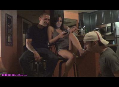 Slave Tastes Her Feet, Boyfriend Tastes Her Lips (Part II)