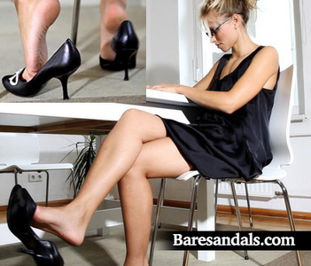 Angelina secretary dangling high heel pumps - Update 3020