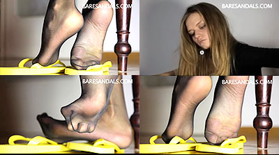 27016 - Bianca nylon feet and soles in flip flops