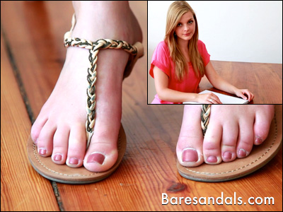Lacey's thong sandals