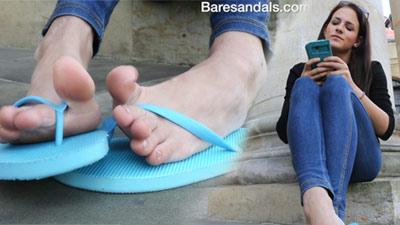 Nikola angling blue rubber flip flops - Update 4066