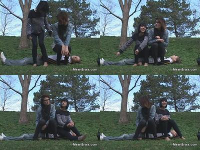 61994 - Mina and Colette Sit on a Boy!
