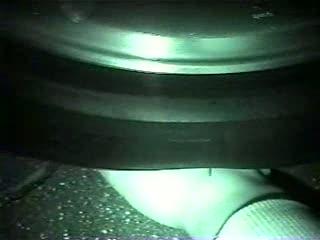 Under her tires