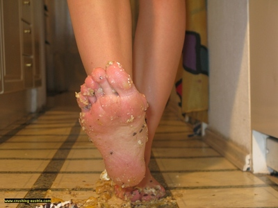 Bare Foot Food Crushing 15