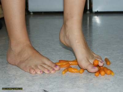 Bare Foot Food Crushing 26